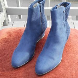Laura Scott Emerson Blue Ankle Booties